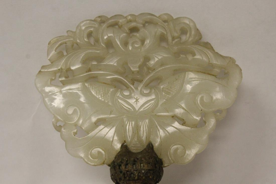 Antique Chinese hetian jade carving made as lamp finial - 6
