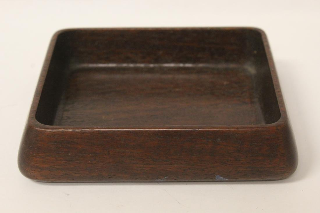 Chinese rosewood box with antique jade plaque - 8