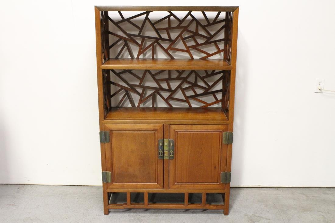 Pair Beautiful Chinese rosewood curio cabinet - 4