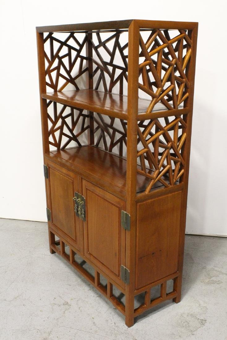 Pair Beautiful Chinese rosewood curio cabinet - 7