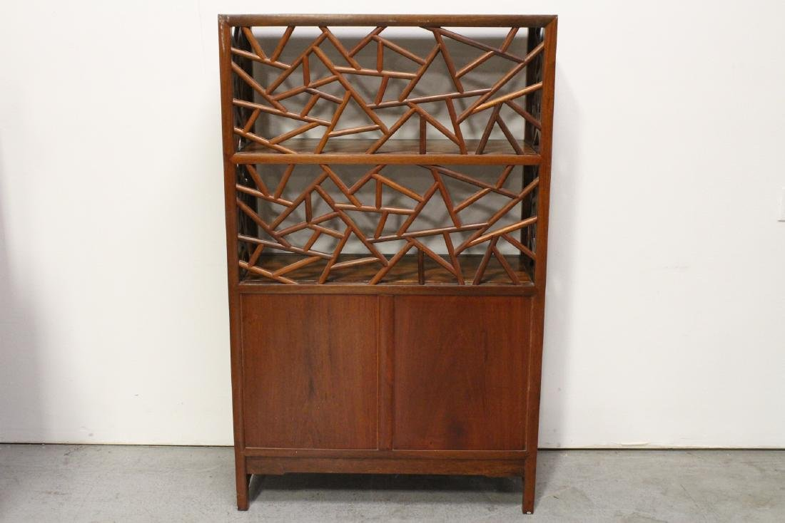 Pair Beautiful Chinese rosewood curio cabinet - 9
