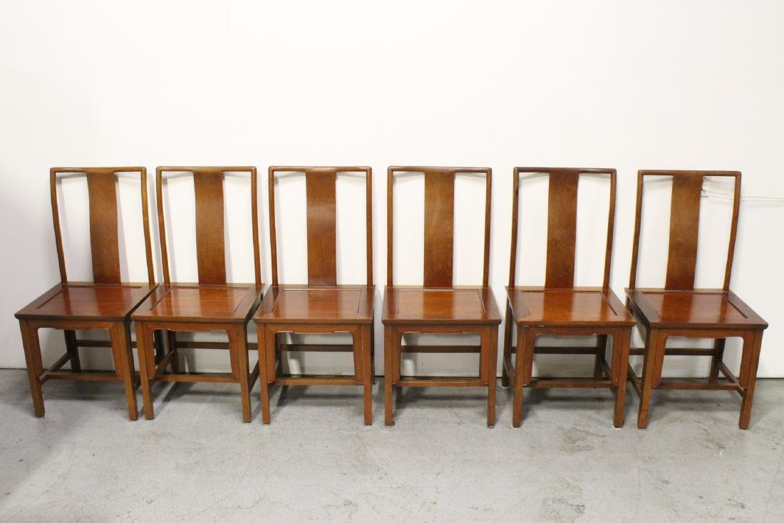 Chinese vintage rosewood dinette table with 6 chairs - 6