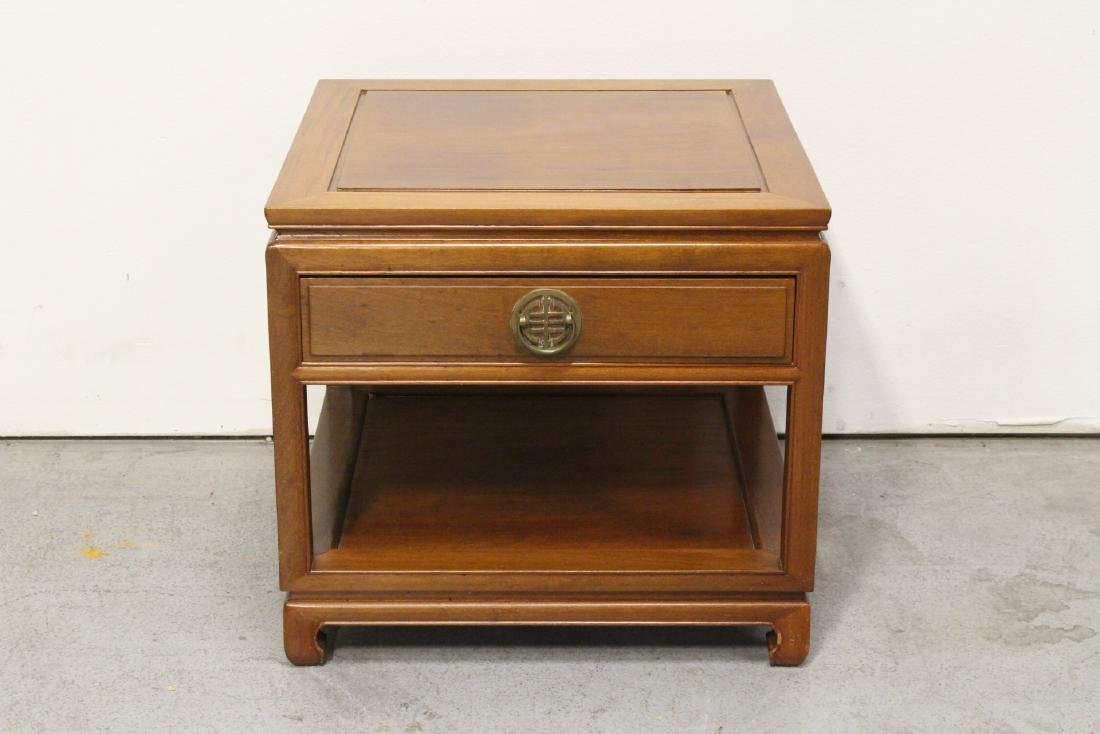 Chinese rosewood square side table