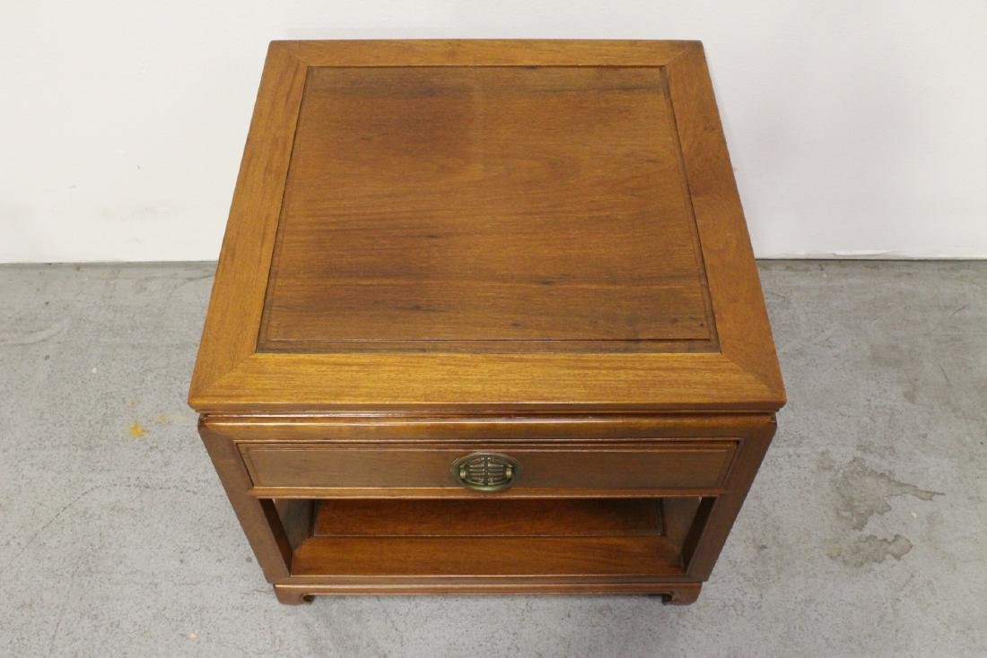 Chinese rosewood square side table - 2