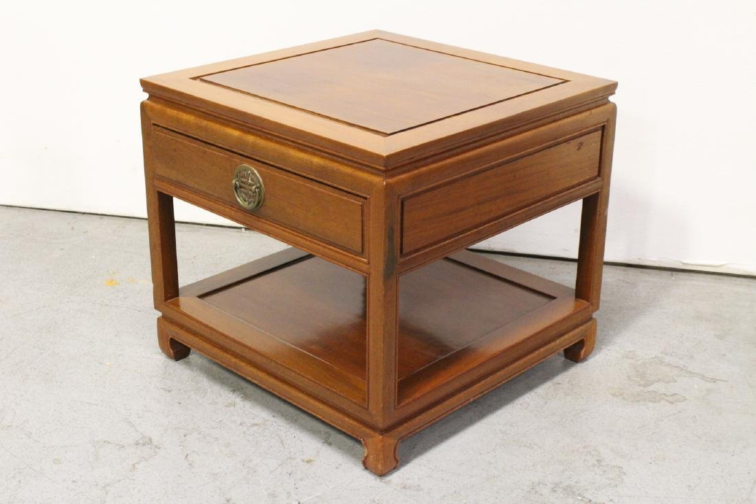 Chinese rosewood square side table - 4