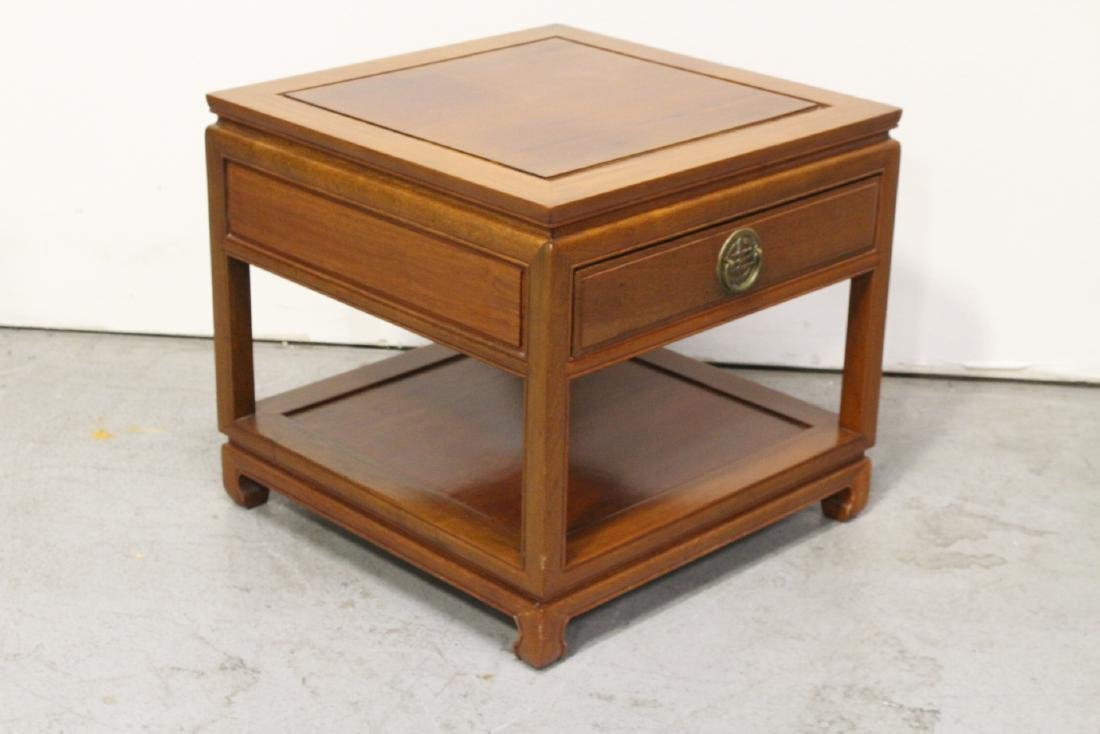 Chinese rosewood square side table - 5