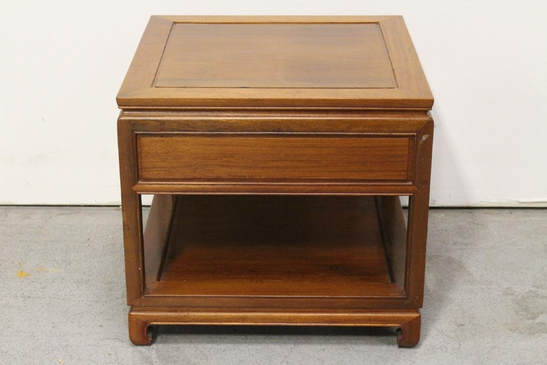 Chinese rosewood square side table - 7