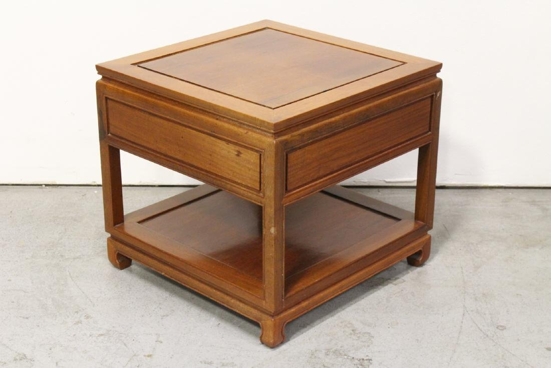 Chinese rosewood square side table - 8