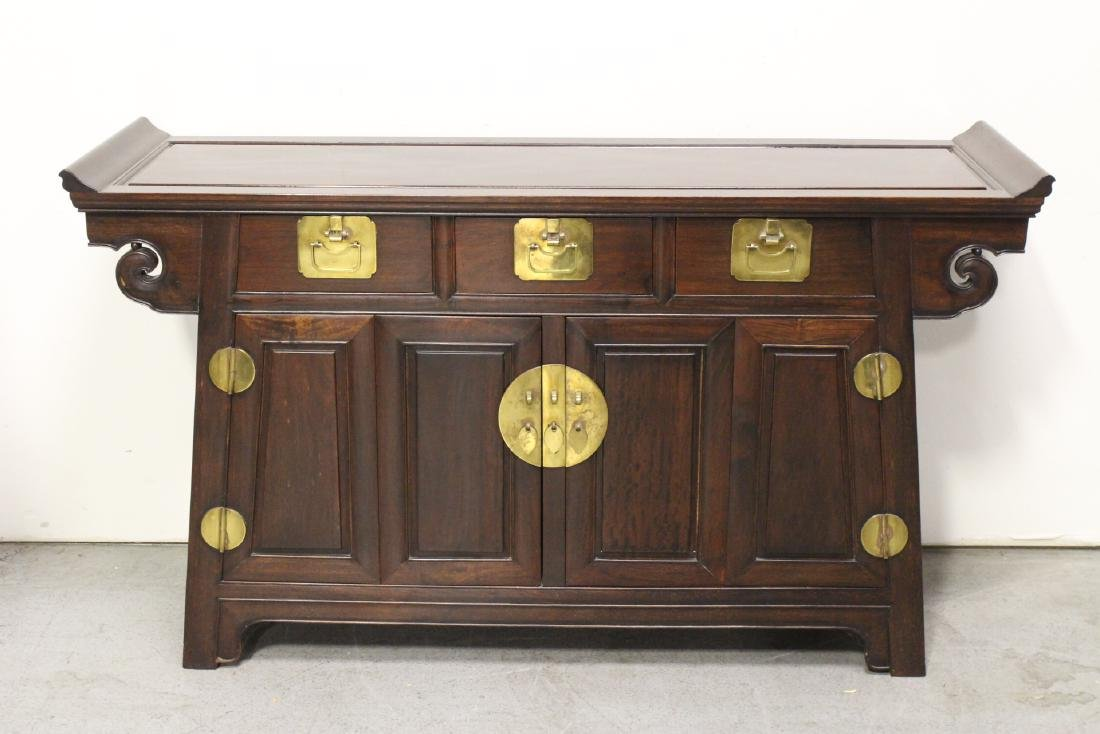 Chinese 19th/20th c. very heavy rosewood altar cabinet