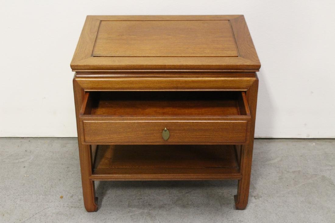 Chinese rosewood square side table - 3
