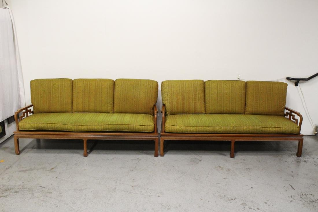 2 Chinese vintage rosewood couch