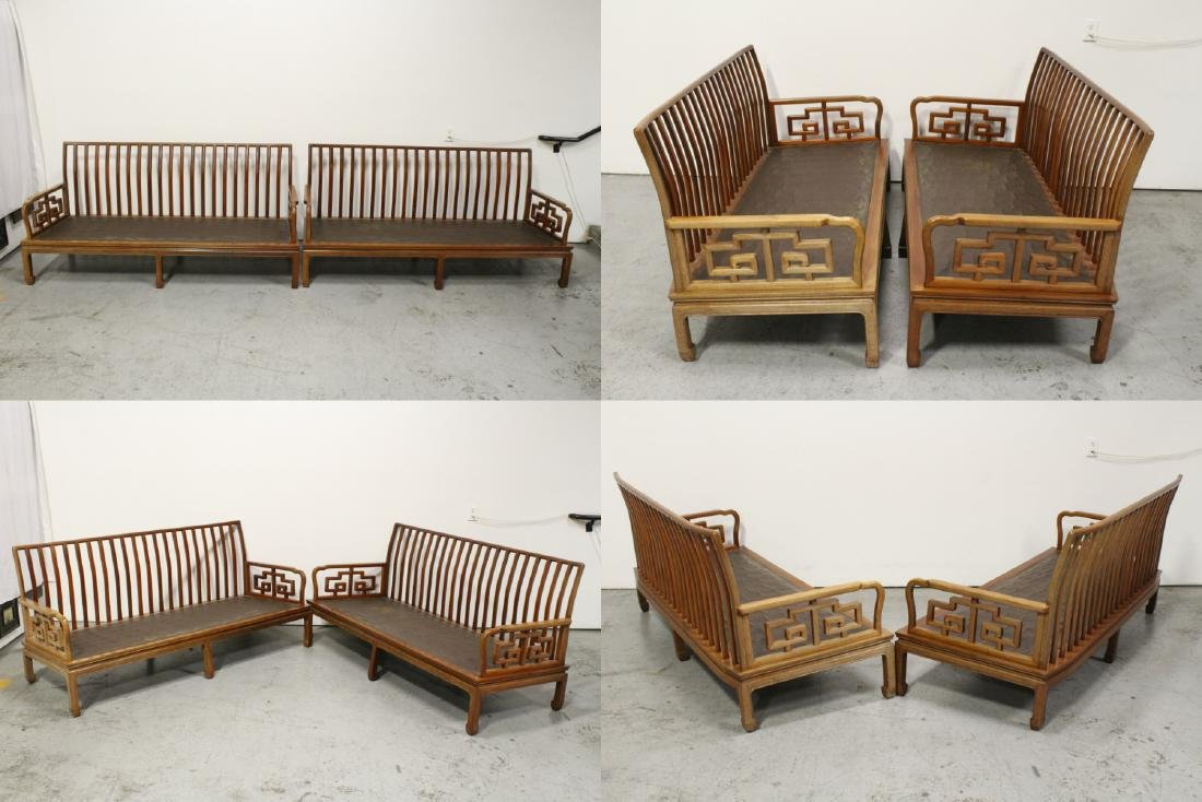2 Chinese vintage rosewood couch - 2