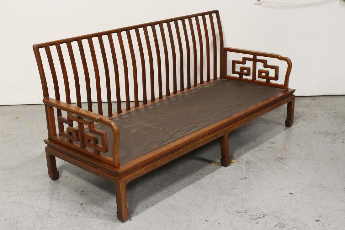 2 Chinese vintage rosewood couch - 6