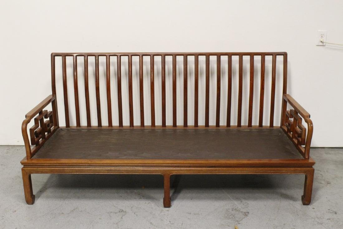 2 Chinese vintage rosewood couch - 7