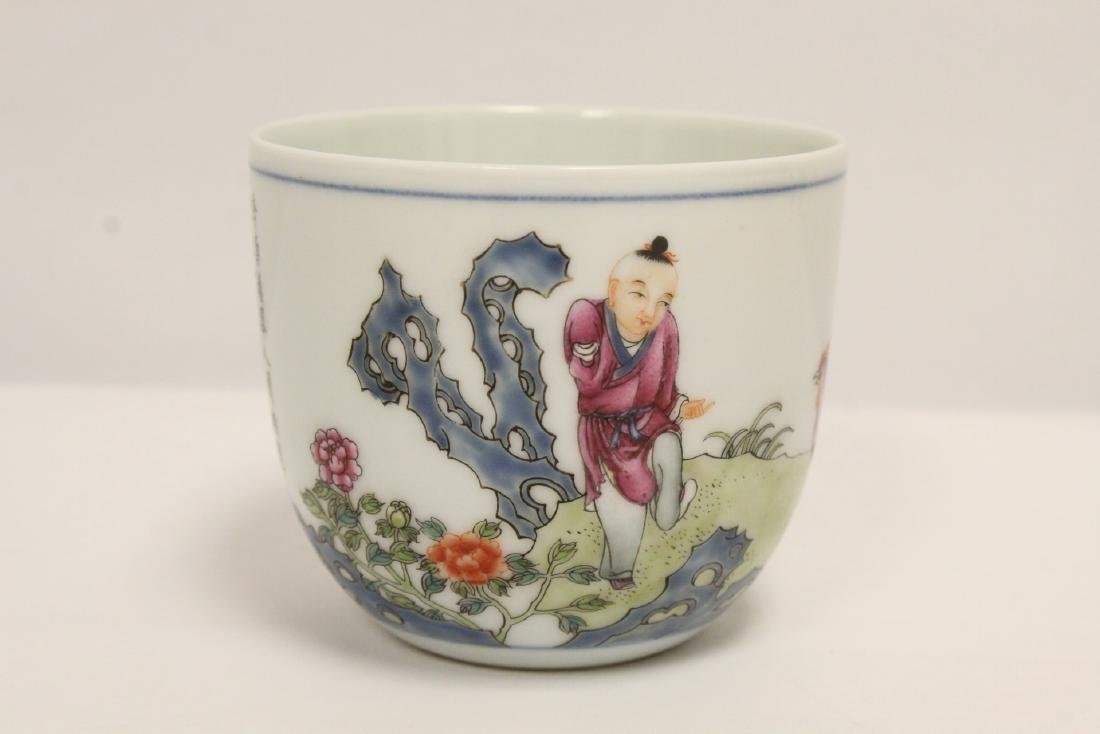 beautiful Chinese famille rose porcelain tea cup