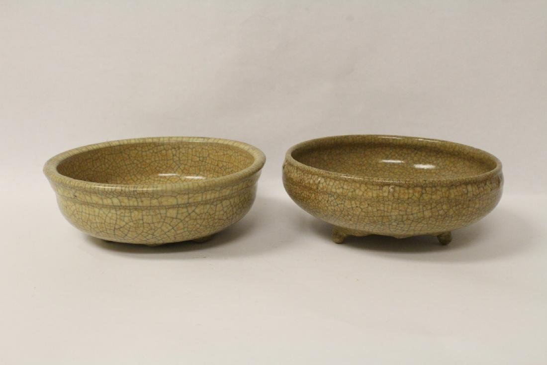 2 Song style crackle ware bowls