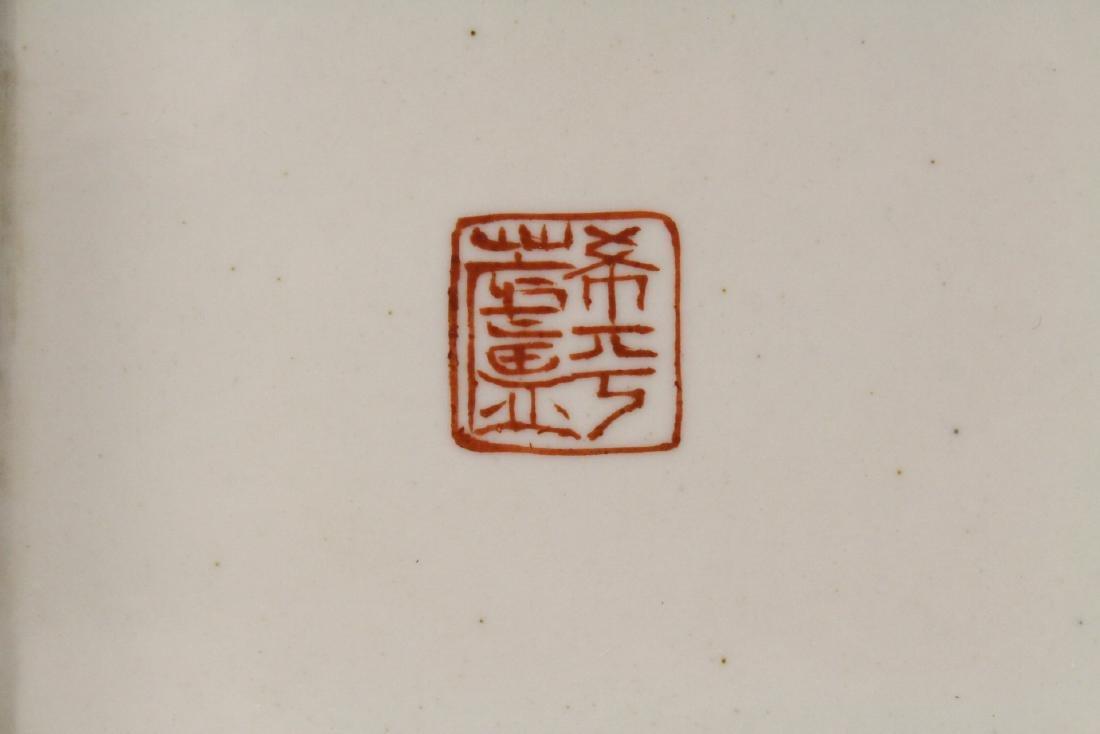 Chinese famille rose porcelain incense holder - 10