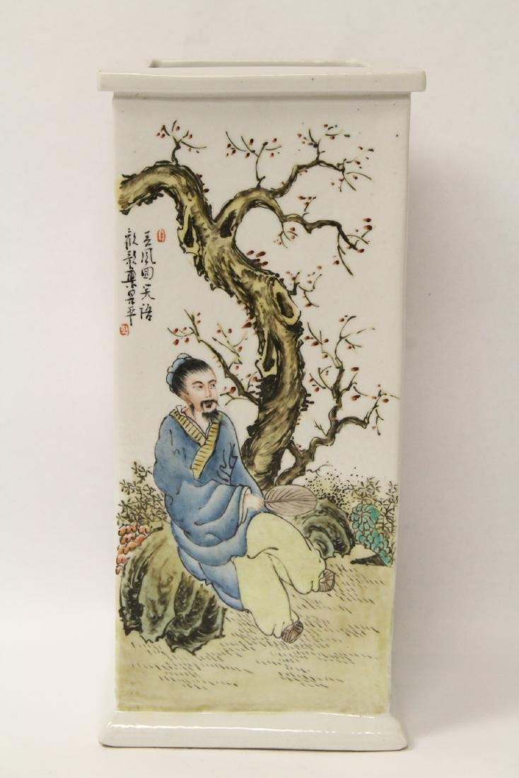 Chinese famille rose porcelain incense holder