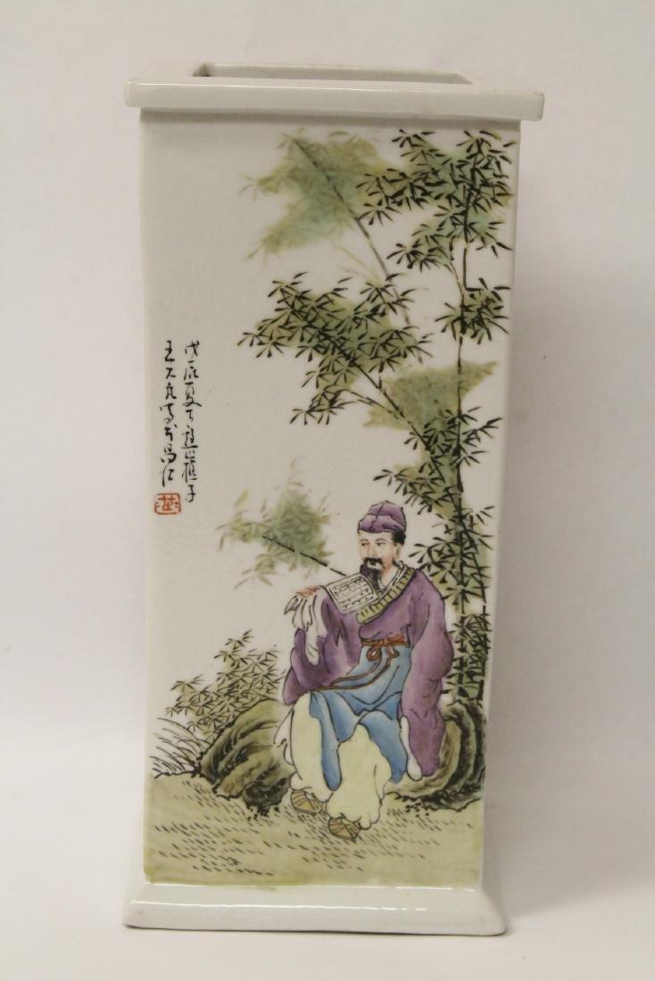 Chinese famille rose porcelain incense holder - 5
