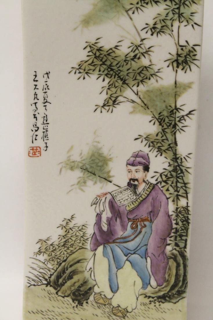 Chinese famille rose porcelain incense holder - 6
