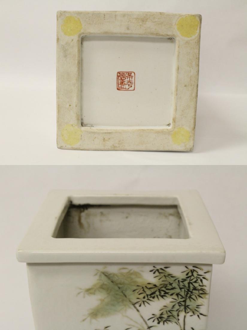 Chinese famille rose porcelain incense holder - 9