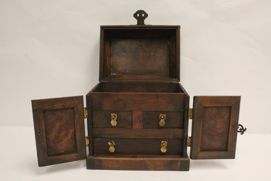 Chinese huali wood jewelry chest