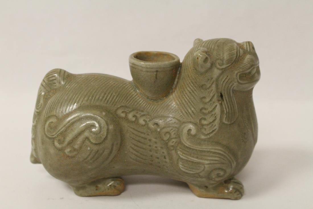 Chinese celadon censer in the form of animal
