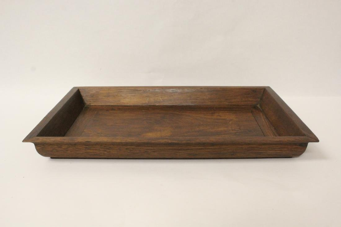 Chinese huali wood tray