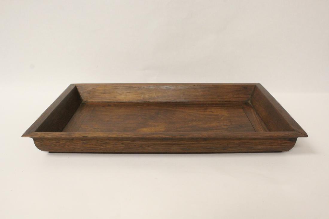 Chinese huali wood tray