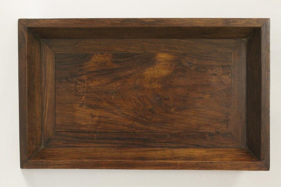 Chinese huali wood tray - 2