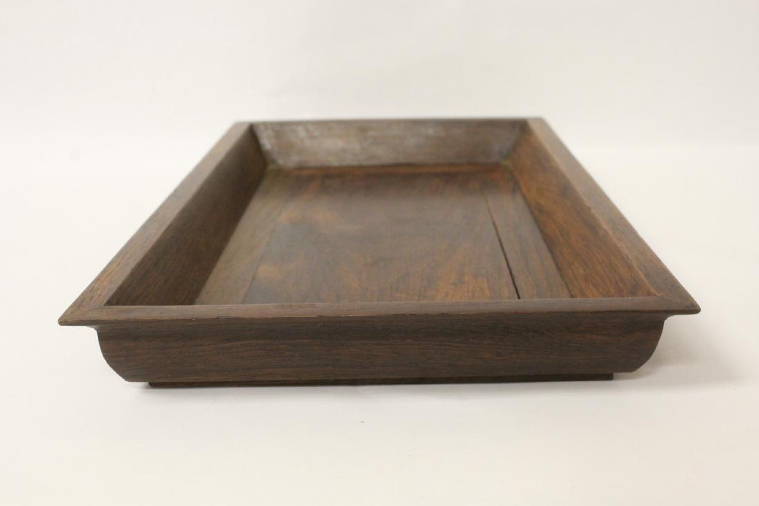 Chinese huali wood tray - 7