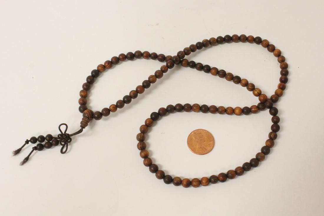 Chinese dzi bead bracelet & a huali wood bead necklace - 3