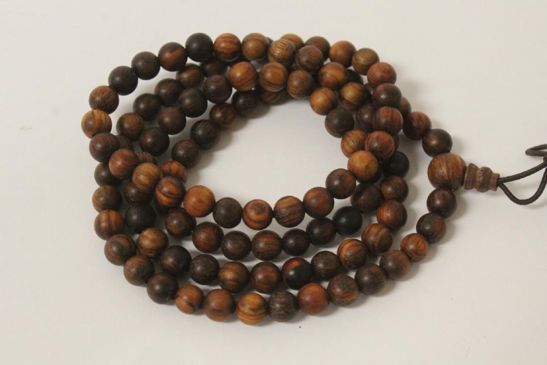 Chinese dzi bead bracelet & a huali wood bead necklace - 5