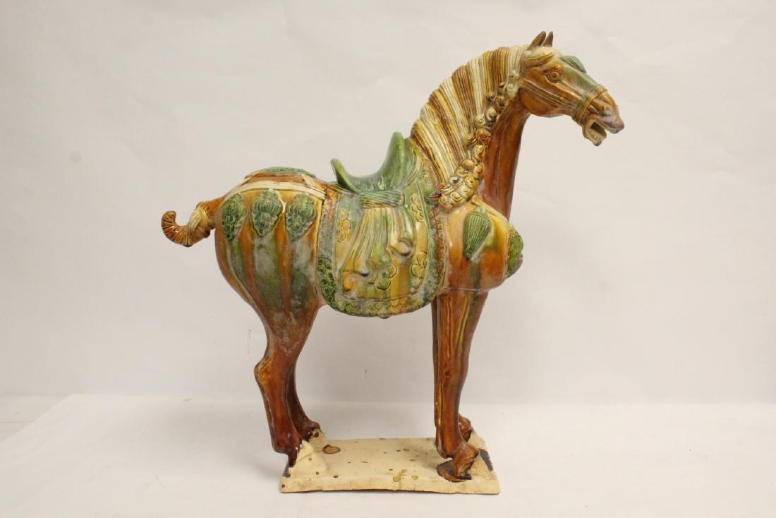Chinese sancai style horse