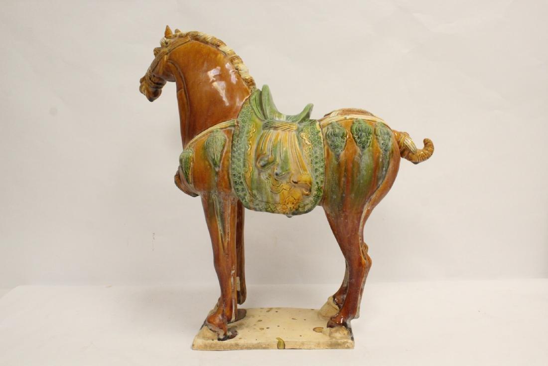 Chinese sancai style horse - 3