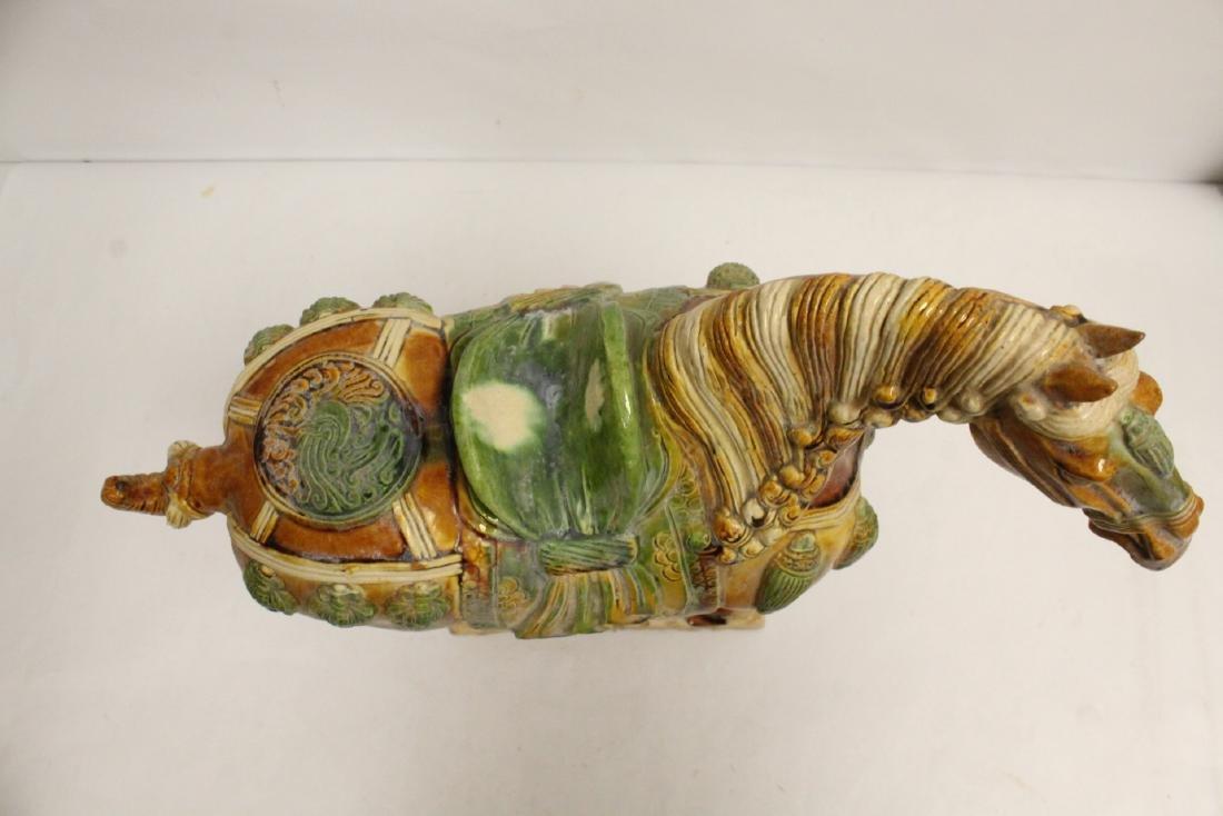 Chinese sancai style horse - 5