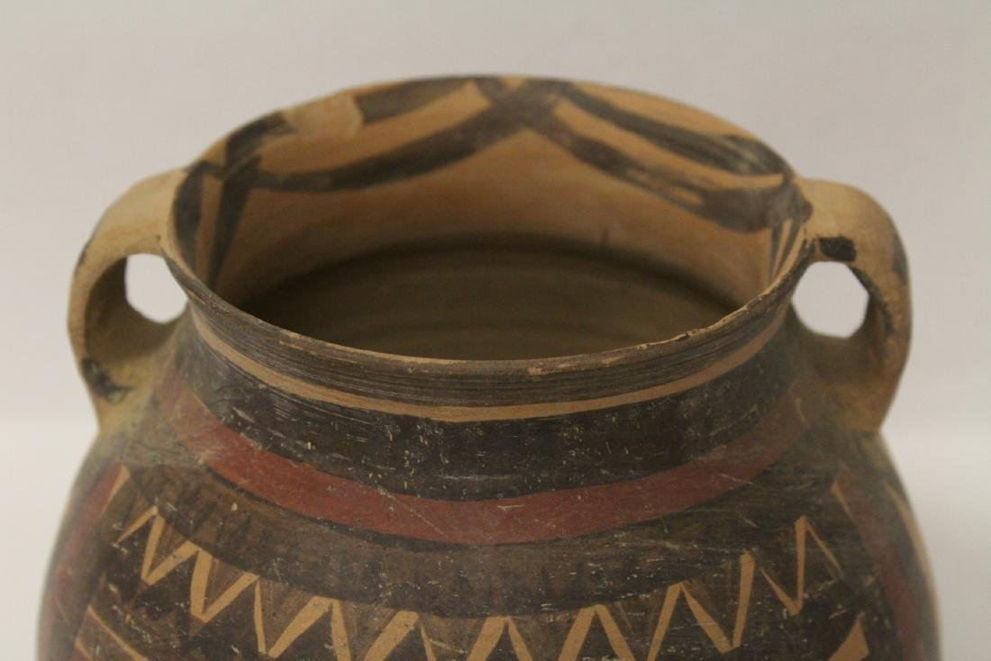 2 Chinese neolithic style pottery jars - 5