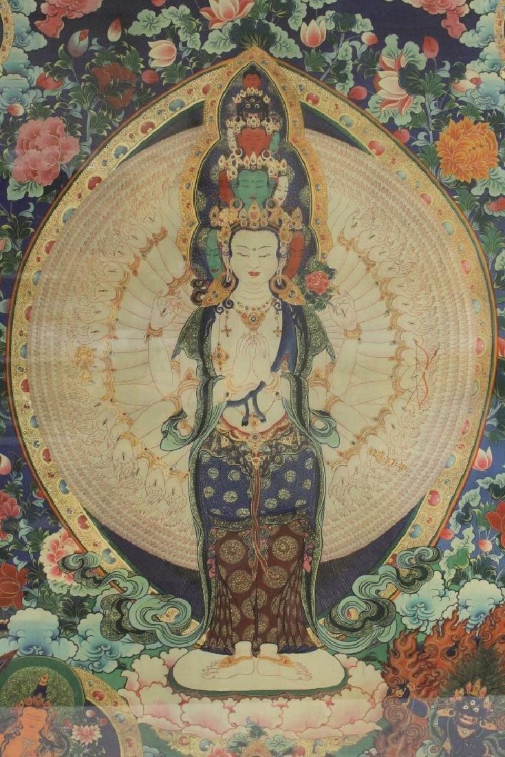 A framed print on silk thangka - 10