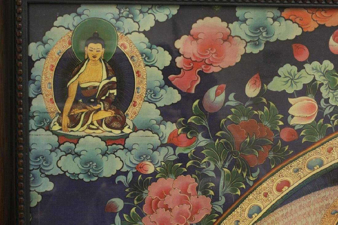 A framed print on silk thangka - 6