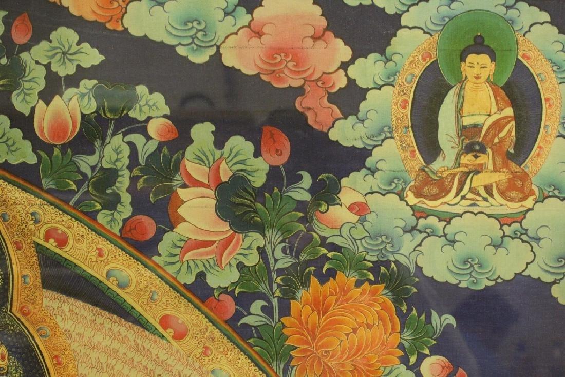 A framed print on silk thangka - 7