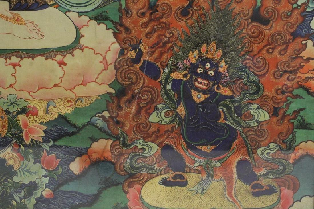 A framed print on silk thangka - 9