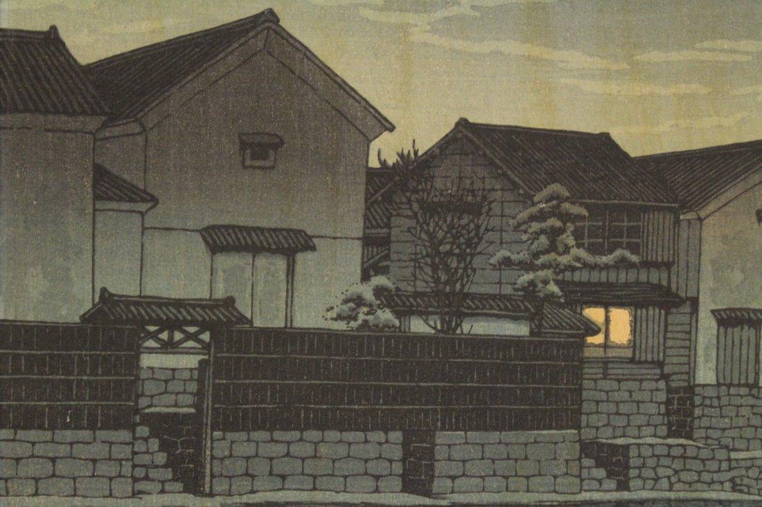Japanese w/b print by Kawase Bunjiro Hasui - 10