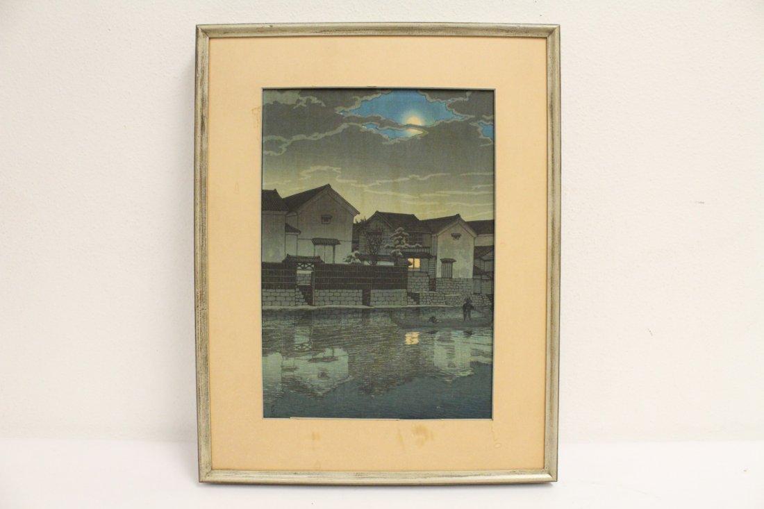 Japanese w/b print by Kawase Bunjiro Hasui