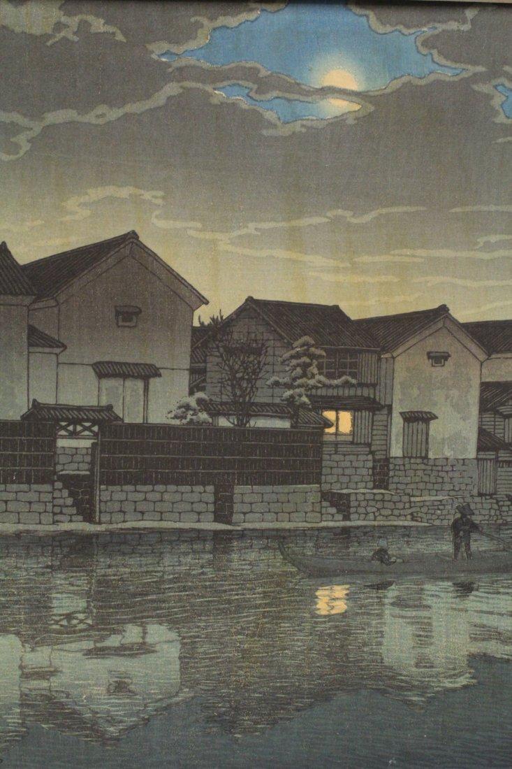 Japanese w/b print by Kawase Bunjiro Hasui - 3