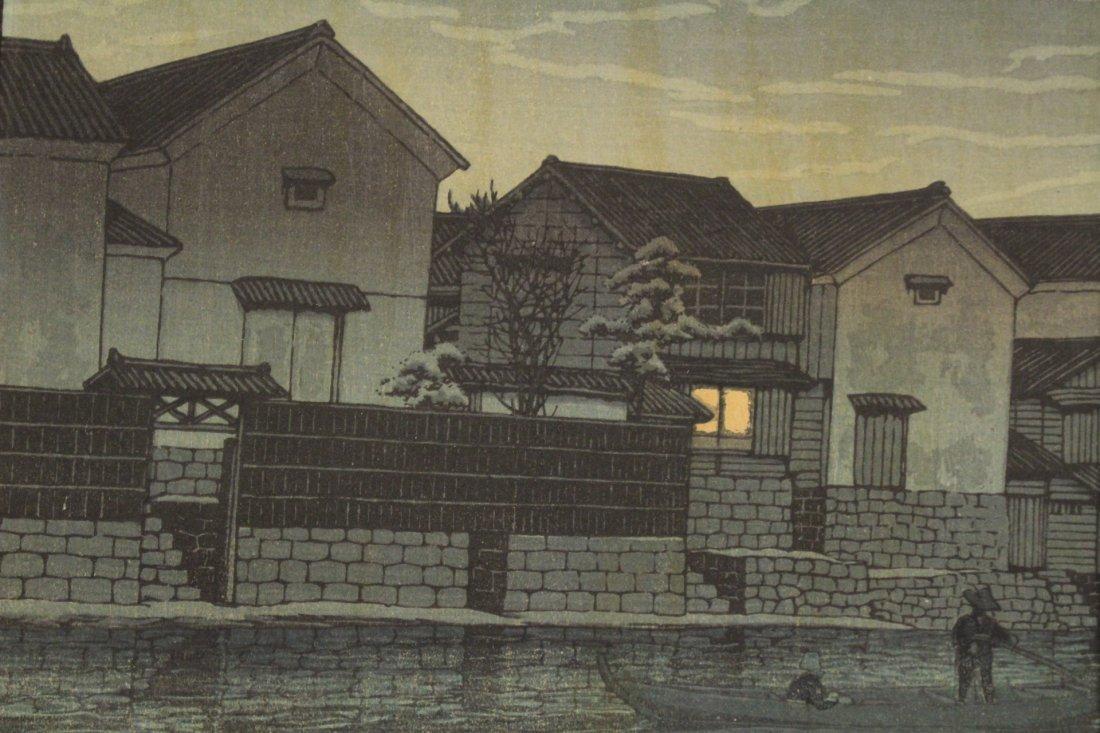 Japanese w/b print by Kawase Bunjiro Hasui - 5