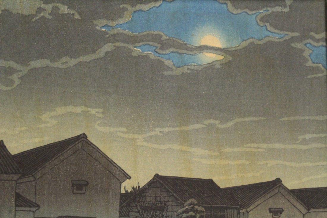 Japanese w/b print by Kawase Bunjiro Hasui - 6