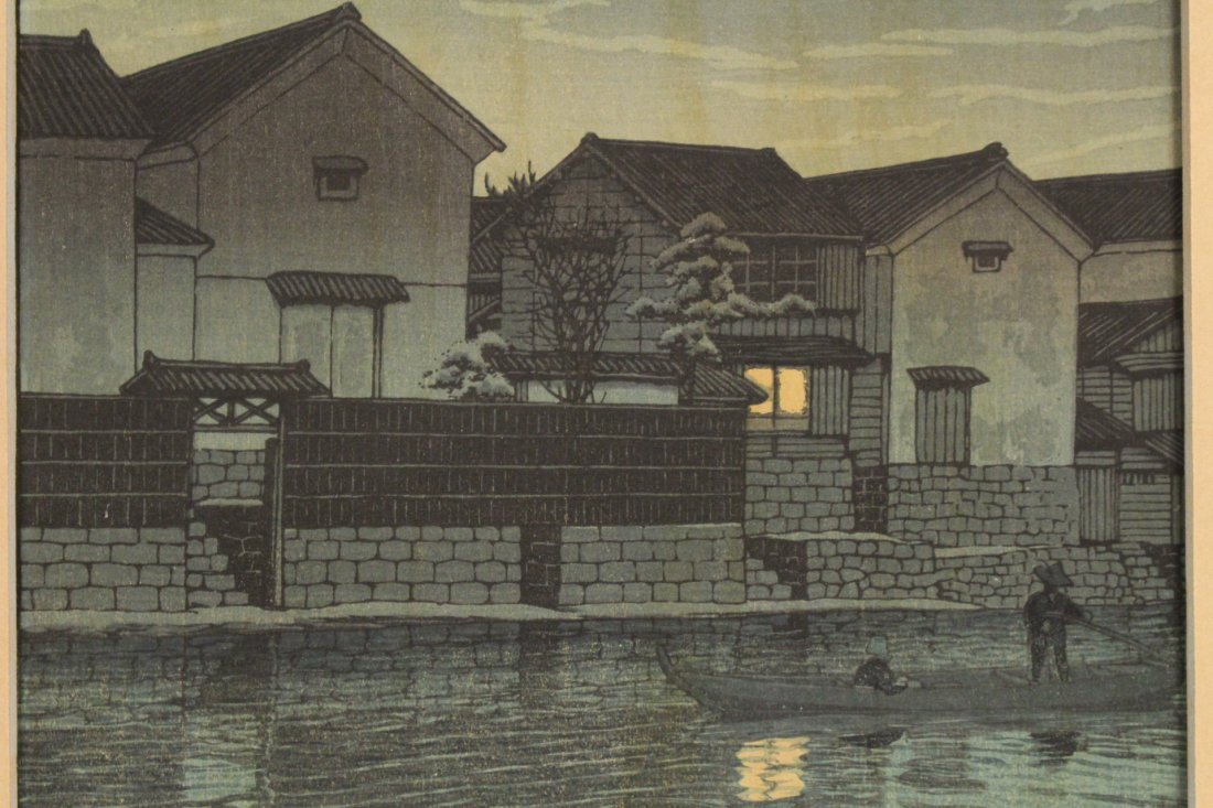 Japanese w/b print by Kawase Bunjiro Hasui - 7