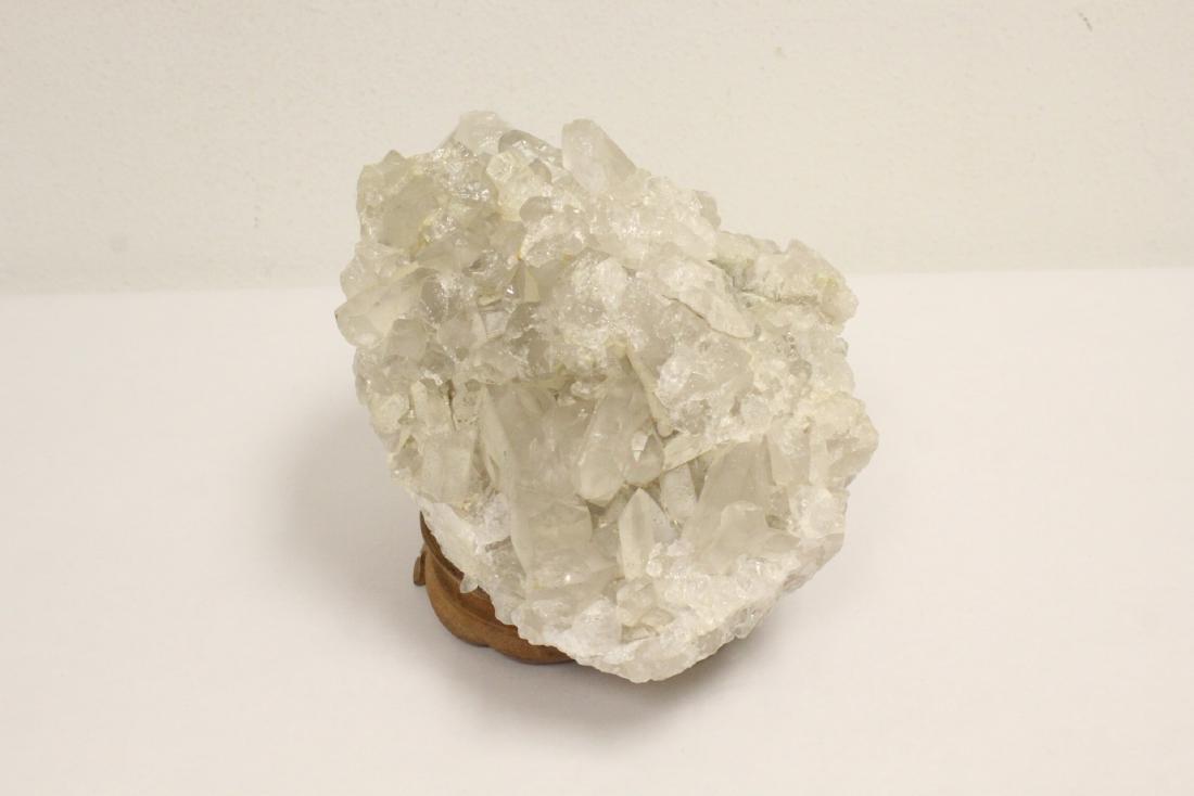 A natural crystal boulder - 3