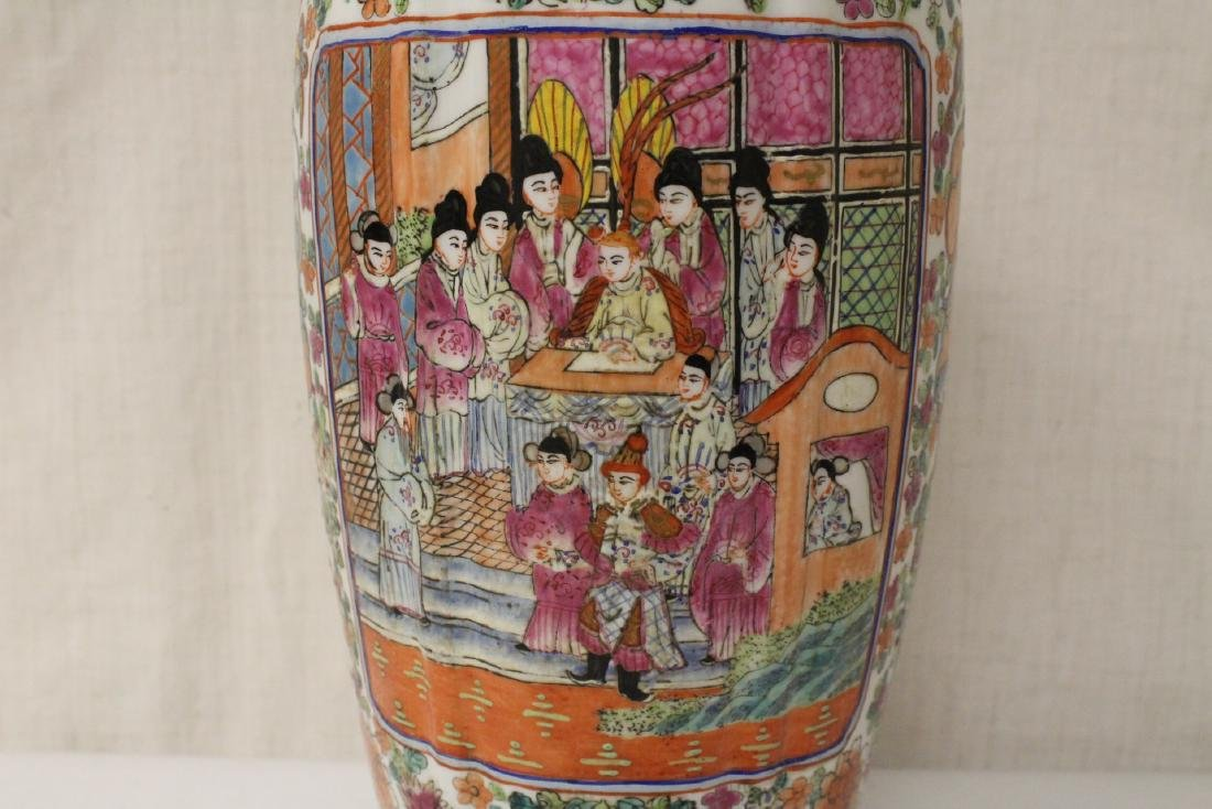 Chinese rose canton covered jar - 3