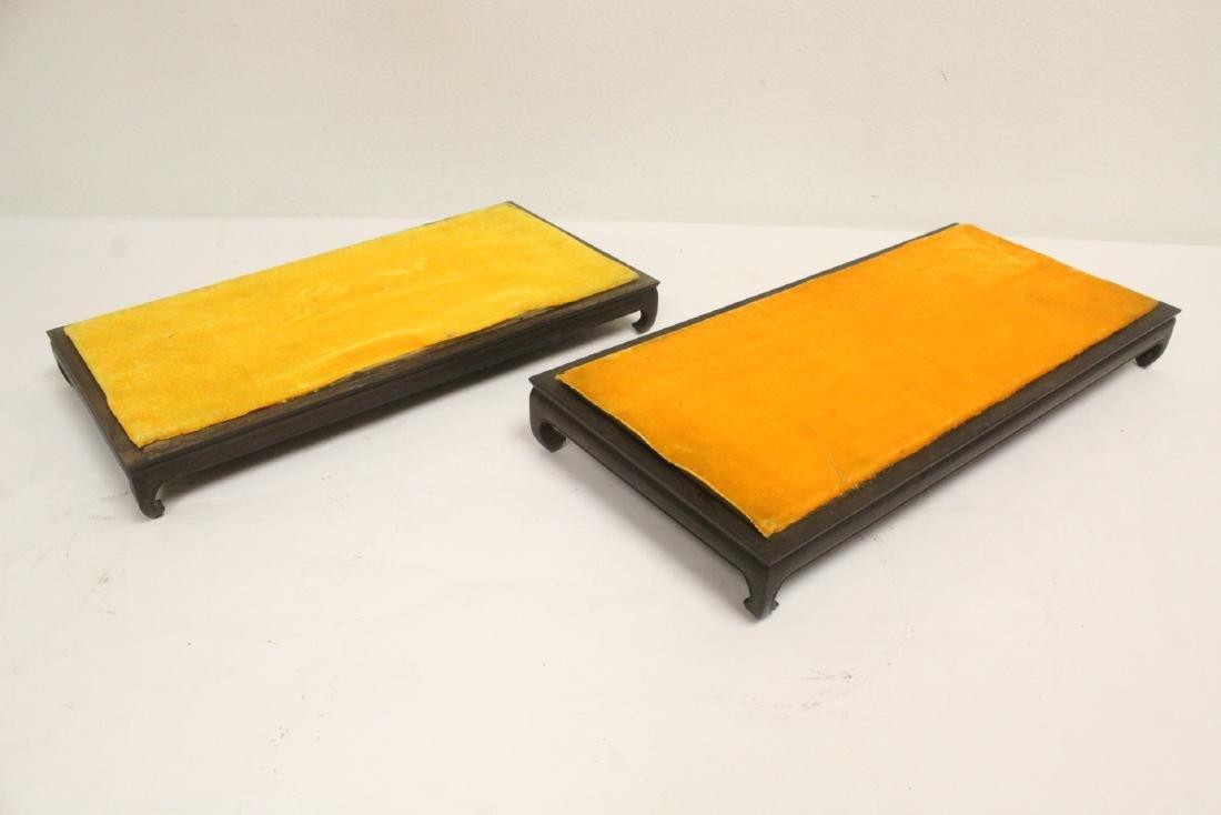 6 zitan wood frame bases - 10